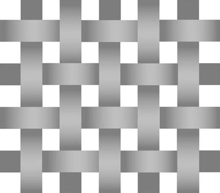 1x1 Plain Weave Leinwand Gewebeart grob