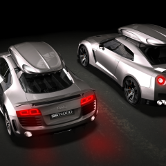Audi R8 Nissan GT-R