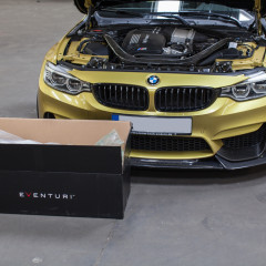 Eventuri Carbon Kevlar Ansaugsystem für BMW F82 M4 gelb_1